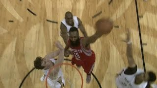 James Harden dunks on Omer Asik and Anthony Davis!