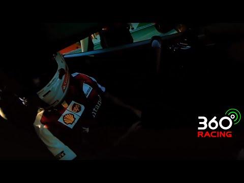 Sebastian Vettel drives a Ferrari full lap