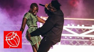 Medikal squeezes Fela Makafui's butt on stage at Cardi B Live in Ghana concert | Ghana Music