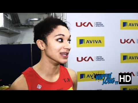 Nuffin'Long TV (Indoor 60m Trials) - Post Race Interview with Jodie Williams (HD)