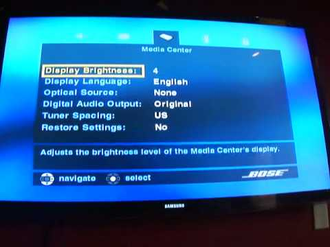 How to hook up bose system to tv