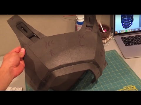 Batman vs Superman Dawn of Justice Foam Armor Costume build - Part 1