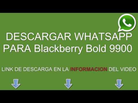 Descargar e instalar whatsapp para Blackberry Bold 9900 gratis