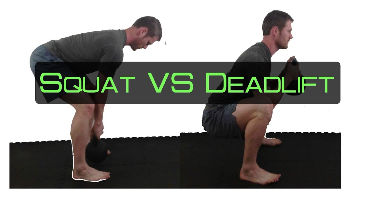 Squats vs Deadlifts Squat vs Deadlift a