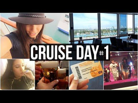 CRUISE DAY 1: I Got Sick, Exploring The Ship, Cousin Fun