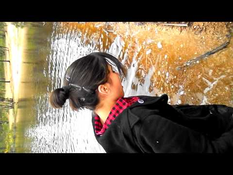 Hannah Falling into the one tree hill dam :)