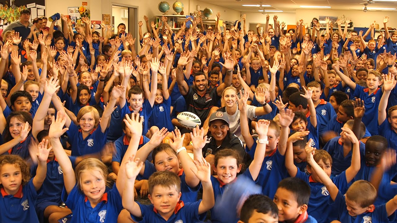 All Stars visit Wavell Heights State School