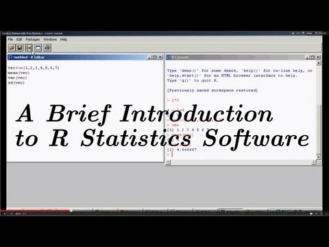 Introduction to R - A Brief Tutorial for R {Software for Statistical Analysis}