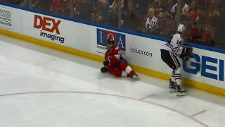 Panik lays out Jagr with big hip check