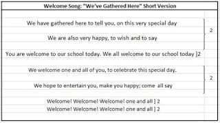 english welcome song for school -short version