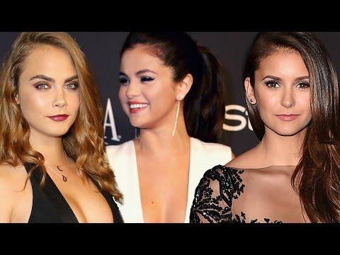 Selena Gomez, Cara Delevigne, Nina Dobrev Golden Globes 2015 STYLE