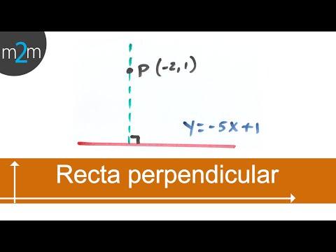 Ecuación de una recta que pasa por un punto y es perpendicular a otra - HD