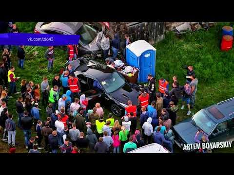 Обзор аварий  Дайджест за неделю  Ниссан GTR ДТП на автодроме  Место происшествия 22 06 2018