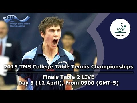 2015 TMS College Table Tennis Championships - FINALS Table 2 LIVE