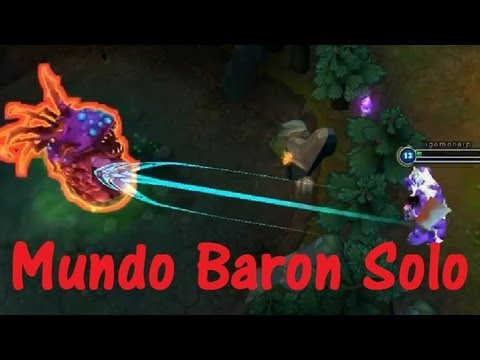 Click Here To Subscribe! � http://bit.ly/igameharp S3 Lv.13 Mundo ����Baron Solo ��巴�no buff no smite Dr. Mundo��Mundo!� Item : Spirit of the Spectral Wrai...