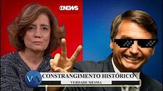 BOLSONARO ATROPELA GLOBO, MIRIAM LEITÃO E SEU FILHO!
