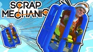 Scrap Mechanic CREATIONS! - GREATEST HUMAN LAUNCHER!! [#25] W/AshDubh | Gameplay |