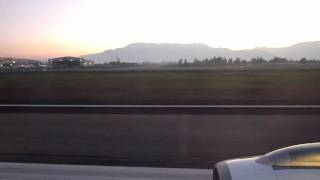 Airbus 318 take off in Santiago de Chile SCL - LAN Airlines LA461 SCL-AEP