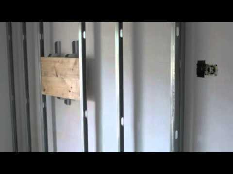 Pladur tabique reforzado cajon para apliques youtube - Instalacion de pladur en paredes ...