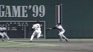 1999 ALCS Gm4: Knobaluch tags Offerman, turns two
