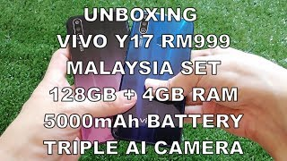 Unboxing Vivo Y17 128GB 5000mAh Malaysia Set Rm999 Blue And Purple