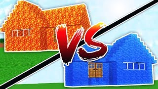 WATER HOUSE VS LAVA HOUSE - MINECRAFT