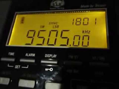 Tecsun PL-880: Voice of Africa and Sudan, 9505 Khz, english programme