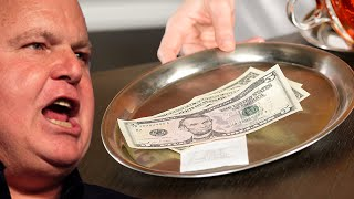 Don't Tell Rush Limbaugh What His Waitress Did With His Big Tip
