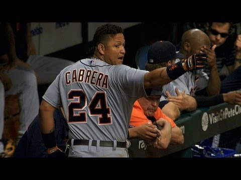 Miggy doesn't appreciate Rodney's brushback pitch