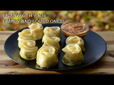 Rose momos recipe chicken dumplings recipe