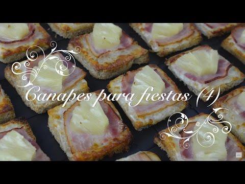 Canapes para fiestas 4 Faciles, rapidos y baratos - Recetas de Cocina por Chef de mi Casa.com