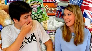 REACTING TO AMERICAN CANDY SWEETS! - FUNNY MOMENTS!