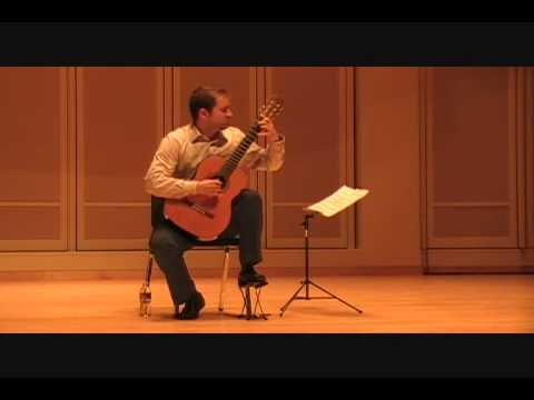Luke Finney plays Variations on a theme by Sor, Op.15 Miguel Llobet