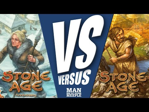 """VS"" - Stone Age versus Stone Age: Anniversary by Man Vs Meeple (Z-Man Games)"