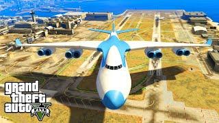 GTA 5 PC Mods - 10x BIGGER CARGO PLANE STUNTS MOD! GTA 5 PC Huge Plane Mod Funny Moments!