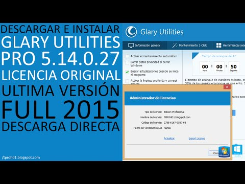 Glary Utilities Pro 5.14│Licencia original│Ultima versión│Descargar e Instalar Full 2015│HD