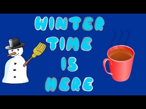 CHILDREN'S WINTER SONG!!!   WINTER TIME IS HERE   SEASONS   Dj Kids
