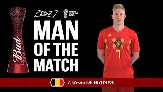 Kevin DE BRUYNE (Belgium) - Man of the Match - MATCH 58