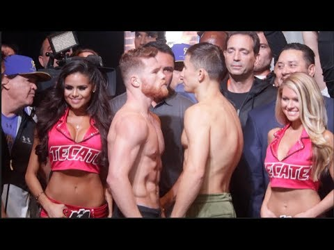 INTENSE!!! - SAUL 'CANELO' ALVAREZ v GENNADY GOLOVKIN - OFFICIAL WEIGH IN & HEAD TO HEAD / SUPREMACY