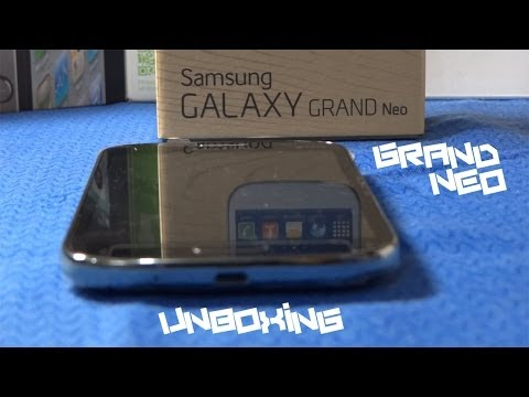 Galaxy Grand Neo Unboxing. First Boot & Overview   HD