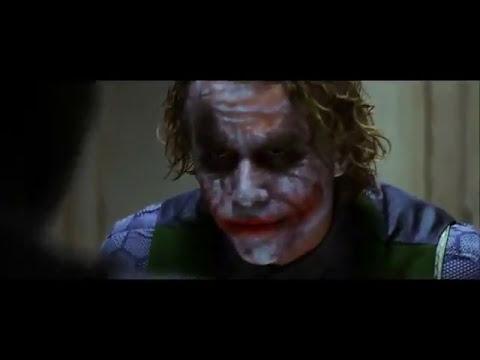 Batman interroga Joker - Il Cavaliere Oscuro