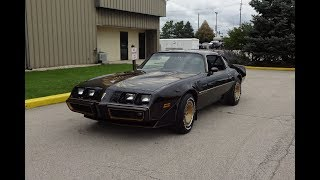 1980 Pontiac Trans Am Special Edition in Black & Engine Sound on My Car Story with Lou Costabile