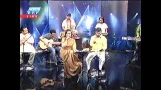 Kanta Nandi in 'Phone E Live Music Show' on Ekushey TV (Part 1)