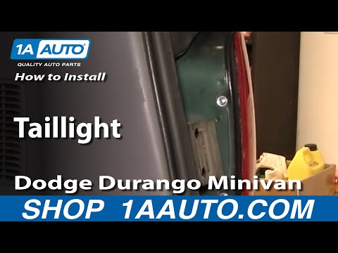 How To Install Replace Taillight Dodge Durango Minivan 96-03 1AAuto.com