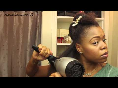 How to Blowout Your Natural Hair - Pt. 1 of Natural Hair Straightening Series