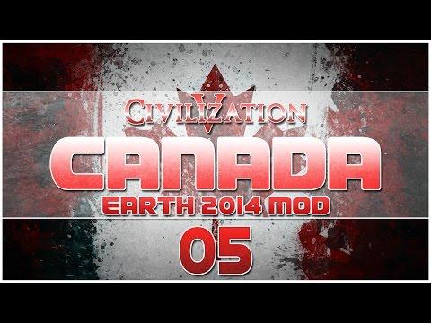 Civilization V - Earth 2014 Mod as Canada - Episode 5 ...Russia Gets Involved...