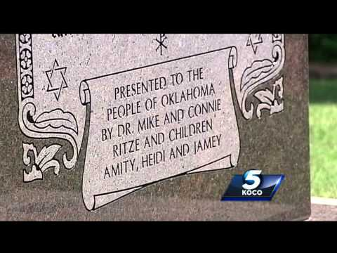 The Oklahoma Supreme Court ruled Tuesday that a Ten Commandments monument at the state Capitol must be taken down. Subscribe to KOCO on YouTube now for more:  http://bit.ly/1lGfjIl    Get more Oklahoma City news: http://koco.com   Like us:http://facebook.com/koco5   Follow us: http://twitter.com/koconews   Google+: https://plus.google.com/+KOCO/posts