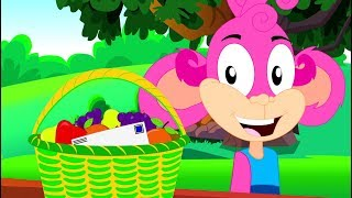 A Tisket A Tasket   Monkey Rhymes For Kids   Videos For Babies by Kids Baby Club