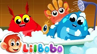 Bath Song | Little BoBo Nursery Rhymes - FlickBox Kids | Monster Cartoon