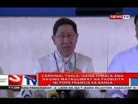 NTVL: Cardinal Tagle: Isang himala ang naging matagumpay na pagbisita ni Pope Francis sa Bansa